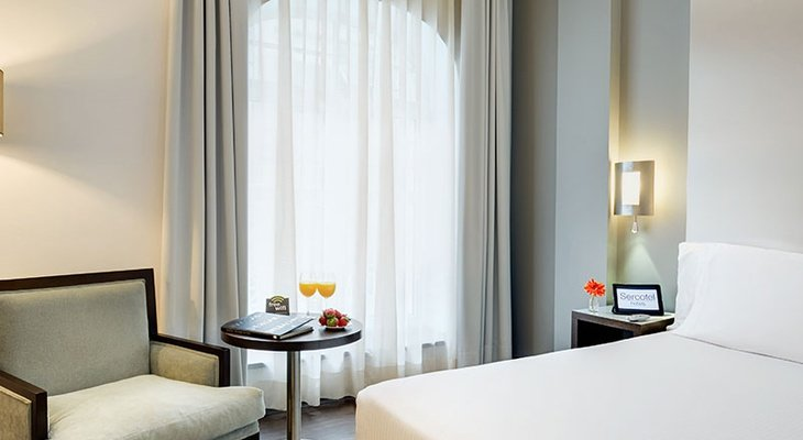 The Sercotel Coliseo Bilbao has 74 standard double rooms that ...